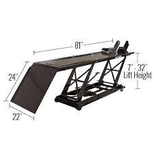 Dimension Of The Table Black Widow 1 000 Lb Hydraulic Motorcycle Lift Table Bw 550