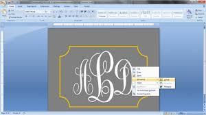 Create Monogram Initials Create A Monogram In Word