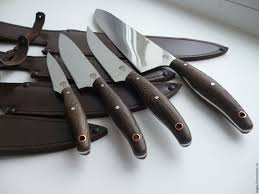 buy the kitchen knives set is made of forged steel 95х18 on