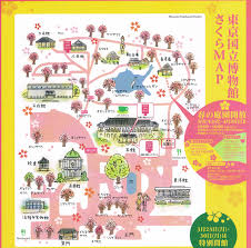 Cherry Blossom Map Hanami At The Tokyo National Museum In Ueno Park Deepjapan