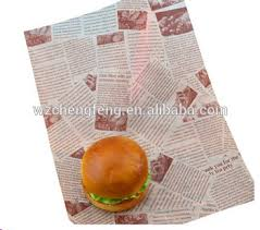 burger wrapping paper food grade printed greaseproof paper burger wrapping paper buy