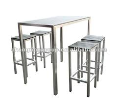 Aluminium Bar Table Outdoor Bar Table Chair With Aluminum Frame And Polywood Top For