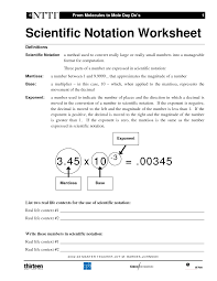 scientific notation worksheet fun intrepidpath best images of