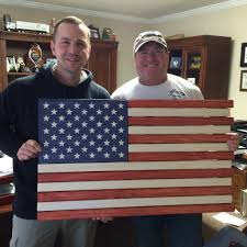 Why Is The American Flag Red White And Blue Red White And Blue Stained Wood American Flag U2013 Old Glory 27 Flag