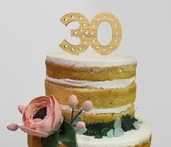 30 cake topper laser cut bamboo wood 30 years milestone birthday
