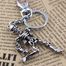 metal skeleton ring holder images Skeleton keychain key ring skull key chain key holder creative jpg