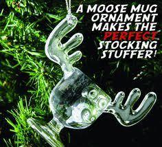 vacation moose mug ornament
