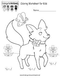 free kindergarten coloring worksheets learning fun activity