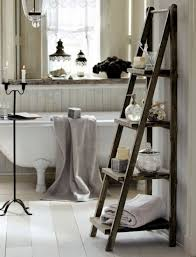 Bathroom Storage Ladder Bathroom Accessories Standing Wooden Ladder Shelf Bathroom