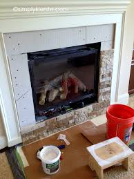 fireplace makeover using airstone airstone living rooms and house