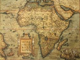 The Map Of Africa Reproduction Of 16th Century Map Of Africa Engraved And Colored