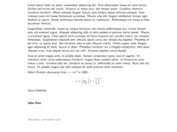 cover letter latex format