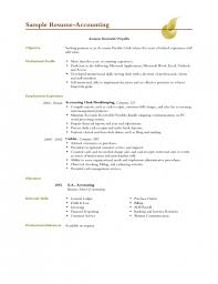 Resume Sles Objective Enchanting Accounting Resume Objective 9 Accounting Sle