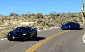 2014 corvette black black and blue 2014 corvette stingrays testing in arizona