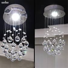 Schlafzimmer Lampe Gold Moderne Kleine Kristall Führte Decklicht Lampe Messenger Flur