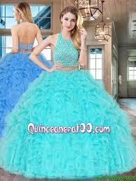 aqua blue quinceanera dresses two big aqua blue quinceanera dress with ruffles and