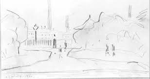 l s lowry lowry original peel park sketch 3 drawing