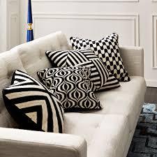 waves black and white throw pillow throw pillows jonathan adler