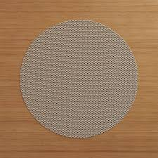 Crate And Barrel Rug Chilewich Knitty Neutral Vinyl Placemat Crate And Barrel