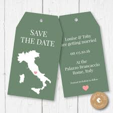 digital save the date digital printable save the date italy wedding luggage tags