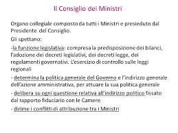 convocazione consiglio dei ministri diritto costituzionale ppt scaricare