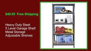 Metal Adjustable Shelving Adjustable Metal Garage Storage Shelves Youtube