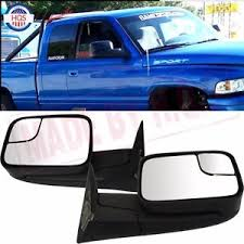 dodge ram 2500 tow mirrors pair manual flip up towing mirror for dodge 94 01 ram 1500 94 02