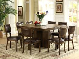 dark oak dining table and 8 chairs room sets white 9pc cappuccino