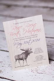 custom nature rustic wedding invitations from winnipeg canada