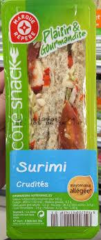 3 fr cote cuisine plaisir gourmandise surimi crudités côté snack 150 g