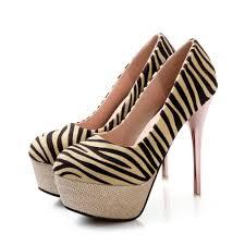 women pumps zebra stripes gold heels red bottom woman shoes