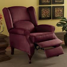 microfiber wingback recliner from seventh avenue 75852
