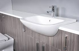 Fitted Bathroom Furniture by Grey Brown Grained Fitted Bathroom Furniture 1600mm Basin Toilet