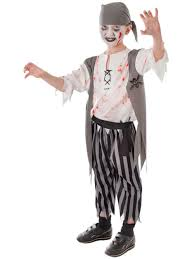 new boys kids cut throat pirate halloween horror zombie fancy