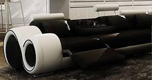 canapé d angle en cuir design canapé d angle design cuir noir et blanc relax oslo droit