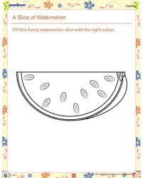 a slice of watermelon u2013 printable kids u0027 coloring pages u2013 jumpstart