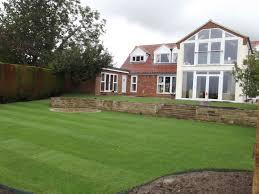 large split levelled garden olive garden design and landscaping
