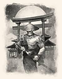 undead samurai drawing stock vector art 489140844 istock