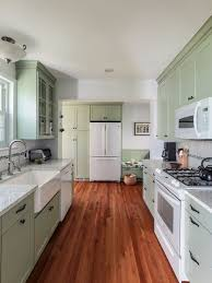 Light Green Cabinets Houzz - Green cabinets kitchen