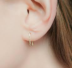 cartilage hoop earrings balluccitoosi tri color hoop earrings 14k gold earring for women