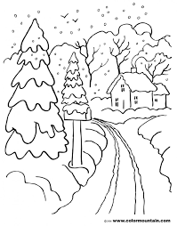 winter scene coloring pages coloring page for kids kids coloring