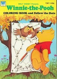 winnie pooh coloring book follow dots whitman 1367
