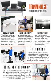 Sit To Stand Desk by Amazon Com Tranzendesk Standing Desk 55 Inch Long Easily