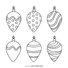 decoration outlines set vector