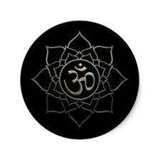 Lotus Flower With Om Symbol - om flower stickers zazzle