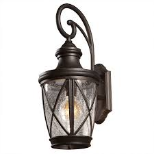porch light fixtures lowes allen roth castine 20 38 in h oil rubbed bronze outdoor wall light