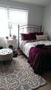 purple accent wall bedroom dark living room colour combination