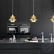 Modern Light Fixtures by Louis Poulsen Mid Century Modern Style Aluminum Doo Wop Pendant