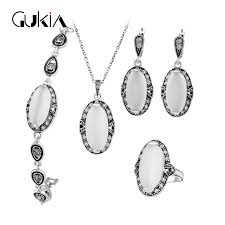 white opal earrings natural stone white opal jewelry sets