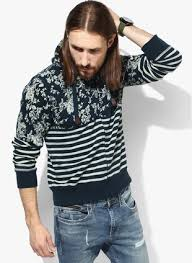 navy blue printed hoodie at rs 2405 from jabong com price